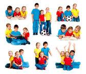 Kids on white — Zdjęcie stockowe