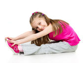 Ginasta de menina — Fotografia Stock