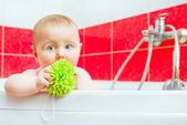 Baby in bath — Stock Photo