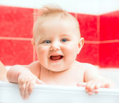 Baby in bath — Stock Photo