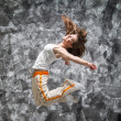 Jumping girl — Photo
