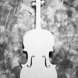White cello — Stock Photo
