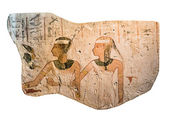Egyptian stone with drawings — Stock Photo