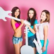Stock Photo: Girls with musical instruments