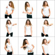 Girl in white t-shirt — Stok fotoğraf #29451343