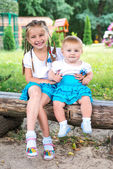 Two little sisters — Stock Photo