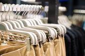 Clothes on hangers — Fotografia Stock