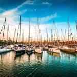 Yachts at sunset — Stock Photo #32172701