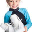 Little girl with skates — Stockfoto