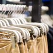 Clothes on hangers — Stock Photo