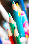 Color pencils close-up — Stockfoto
