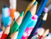 Color pencils close-up — Foto Stock