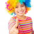 Little girl in clown wig — Stock Photo #37787647