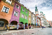 The central square of Poznan — Stock Photo