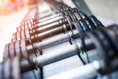 Sports dumbbells — Stock Photo