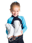 Little girl with skates — Stock Photo