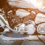 Motorcycle engine — Stock Photo #40014437