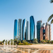 Stock Photo: Skyscrapers abu dhabi