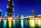 Dubai mall och dubai fountain — Stockfoto