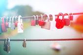 Lock in hart shape — Stock Photo