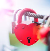 Lock in hart shape — Stockfoto