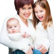 Mother with babies — Stock Photo