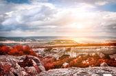 Krajina s horami — Stock fotografie
