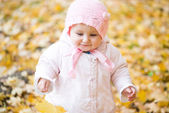 Little baby in the park — Stock Photo