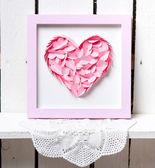 Cuore rosa — Foto Stock