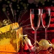 Two glasses with decorations — Stock Photo #7482584
