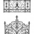 Royalty-Free Stock Photo: Black forged gate with decorative lattice