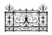 Forged decorative lattice — Stock Photo