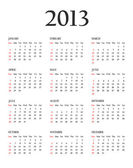 Calendar 2013. Template for your design — Stock Photo