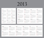 Set of Template Calendars for 2013. — Stock Photo