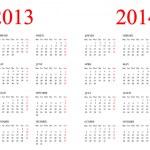 Calendar 2013-2014. — Stock Photo