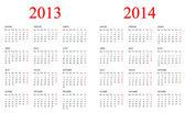 日历 2013年-2014 年. — 图库照片