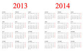 Kalender 2013-2014. — Stockfoto