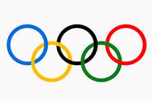 Olympic games rings symbol. — Stock Photo