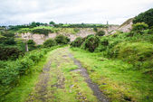 Track leading into a quarry — Stock Photo