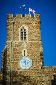 Bandera de la iglesia inglesa con st george — Foto de Stock