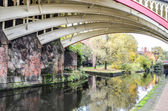 Bridge over the canal in Manchester — Stock Photo