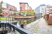 Canal in centre of Manchester — Stock Photo