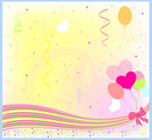 Happy birthday greeting vector background — Stock Vector