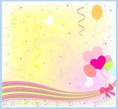 Happy birthday greeting vector background — Stock Vector