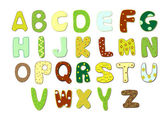 Cartoon alphabet vector art illustration — Stock Vector