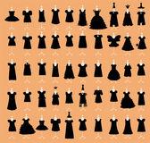 Little Black Dresses Set vector — Stock Vector