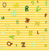 Soyut sorunsuz alfabe arka plan vektör çizim — Stok Vektör