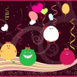 Royalty-Free Stock Vector Image: Funny greeting card with little monsters. happy birthday vector