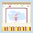 Royalty-Free Stock 矢量图片: Cute card with a little girl vector