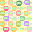 Stock Vector: Children seamless pattern with hippopotamus, vector illustration